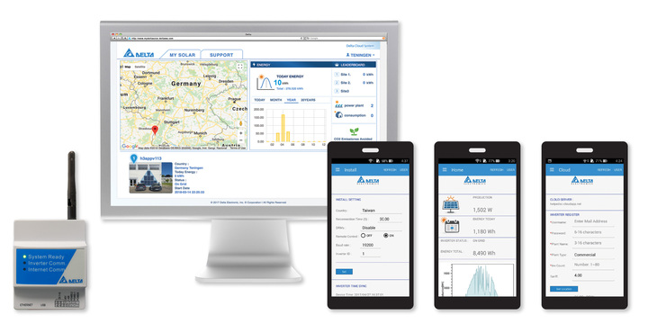 Delta launches data collector and cloud-based monitoring solution for solar PV systems