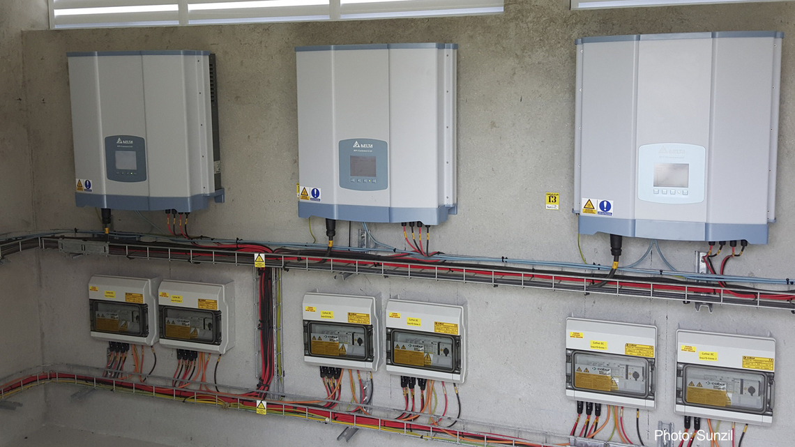Indoor installation of RPI M20A solar inverters
