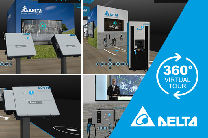 Delta's Virtual Tradeshow – the Easy Way to View New String PV Inverters and e-Mobility Solutions
