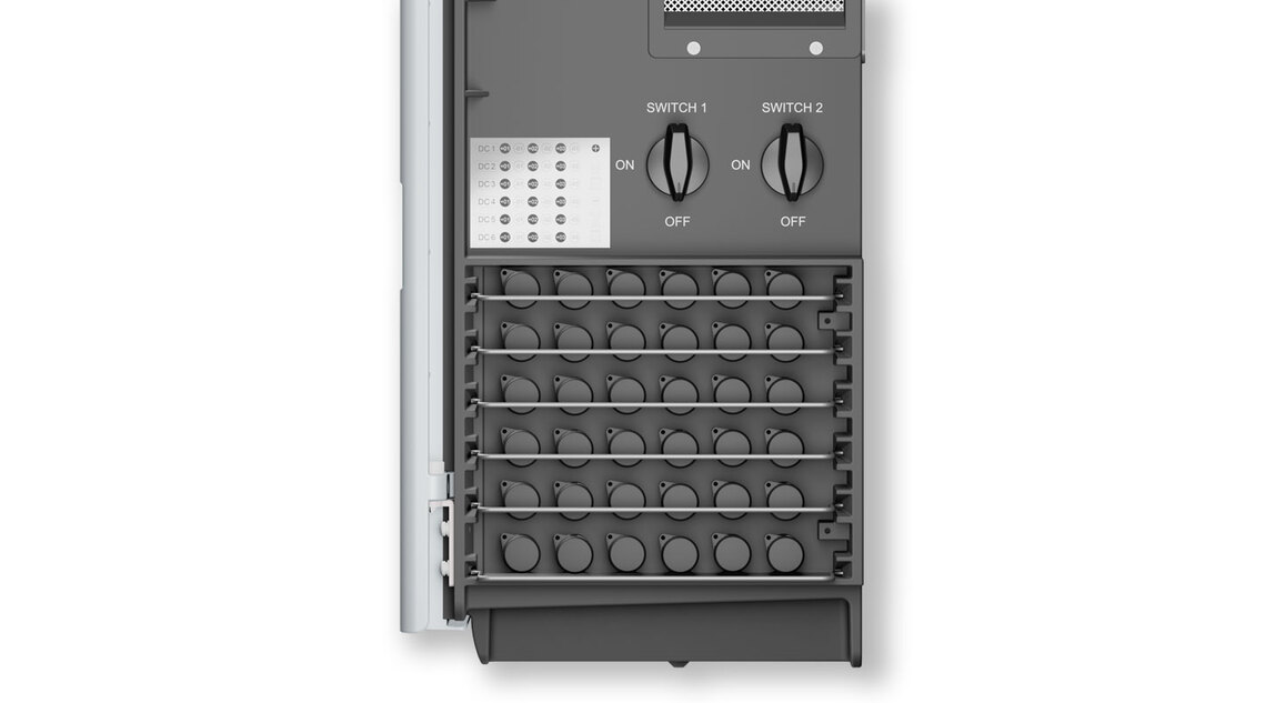 View of the M70A input panel